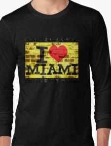 I love Miami - Vintage Miami Long Sleeve T-Shirt