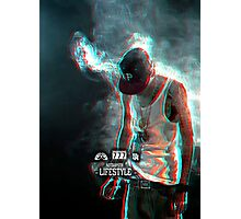 Smoking Rapper Photographic Print