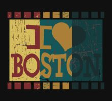I love (heart) Boston - Vintage Boston by Nhan Ngo