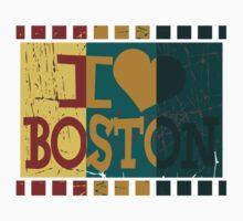 I love (heart) Boston - Vintage Boston One Piece - Short Sleeve
