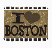 I love Boston – Vintage Boston, MA Kids Tee