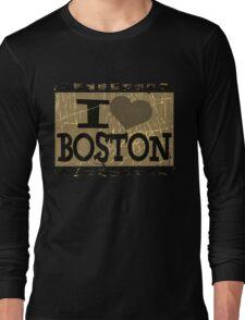 I love Boston – Vintage Boston, MA Long Sleeve T-Shirt