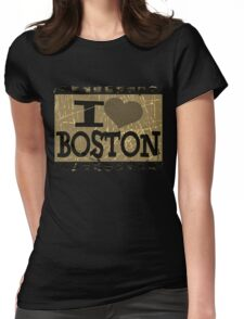 I love Boston – Vintage Boston, MA Womens Fitted T-Shirt