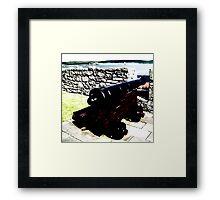 cannon in oil Framed Print