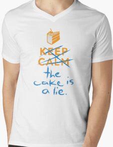 Don't keep calm the cake is a lie Mens V-Neck T-Shirt