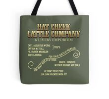 Hat Creek Cattle Company Sign Tote Bag