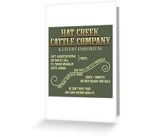 Hat Creek Cattle Company Sign Greeting Card