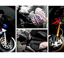 Classic Motorbike Collage # 2 by Dale Rockell