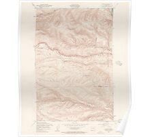 USGS Topo Map Washington State WA Ginkgo 241280 1953 24000 Poster