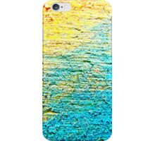 yellow blue texture iPhone Case/Skin