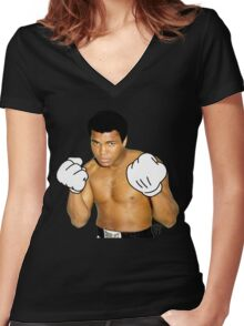 Cartoon Ali Women's Fitted V-Neck T-Shirt