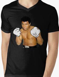 Cartoon Ali Mens V-Neck T-Shirt