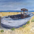 Dungeness boat by Linda Ridpath