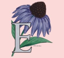 E is for Echinacea - full image Kids Tee