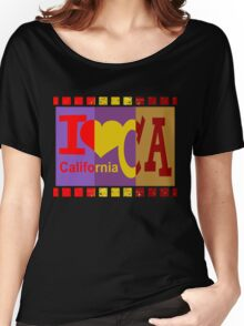 I love California - Pop Art Women's Relaxed Fit T-Shirt