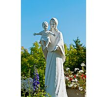 Saint Mary with Jesus Photographic Print