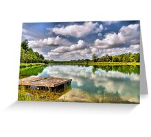 On Strickland Pond (HDR) Greeting Card