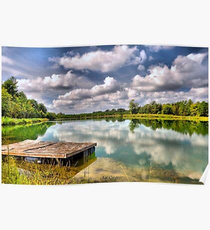 On Strickland Pond (HDR) Poster