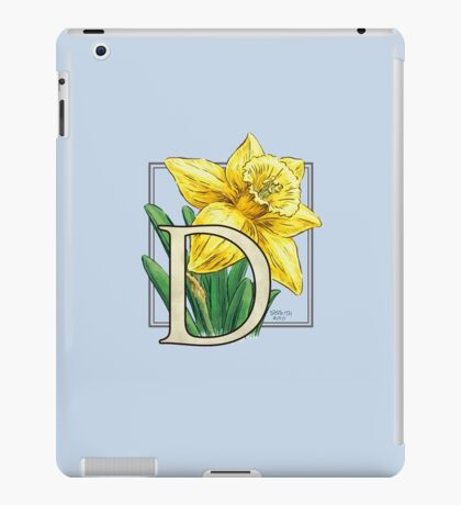 D is for Daffodil - full image iPad Case/Skin