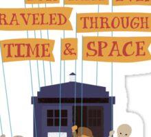 It's a Wibbly Wobbly, Timey Wimey Universe Sticker