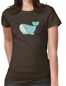 lou, the whale Womens Fitted T-Shirt