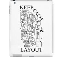 Keep Calm & Layout iPad Case/Skin