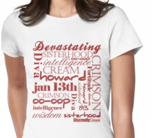Discreetly Greek - Delta - Say it aint so! Womens Fitted T-Shirt