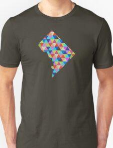 Washington D.C. - District of Columbia - Colorful Geometric Triangles Hipster USA  Unisex T-Shirt