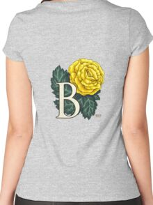 B is for Begonia - full image Women's Fitted Scoop T-Shirt