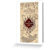 Harry The Marauders Map Greeting Card