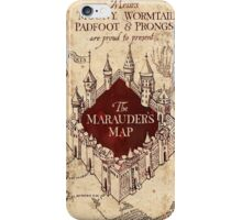 Harry The Marauders Map iPhone Case/Skin