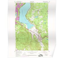 USGS Topo Map Washington State WA Issaquah 241675 1950 24000 Poster