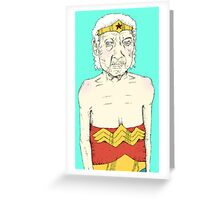 Elderly Wonder Woman Greeting Card