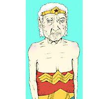 Elderly Wonder Woman Photographic Print