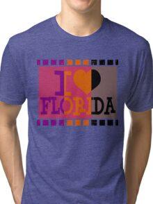 I love Florida and Pop art Tri-blend T-Shirt