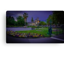 Springtime Sunset at the Soldiers Memorial and Old Town Hall Canvas Print