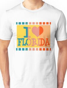 I love Florida and Pop art 2 Unisex T-Shirt