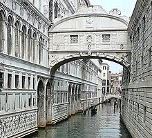Bridge of sighs in Venice by Art-Motiva