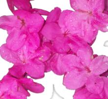 Azalea Flower Arrangement Photo Breast Cancer Awareness Ribbon Sticker