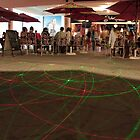 Laser Circles, Bar Sangria, Albufiera by Justin Mitchell