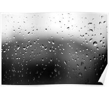 Window Pane Rain Poster