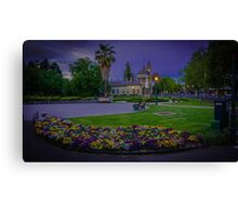 Springtime at the Soldiers Memorial and Old Town Hall Canvas Print