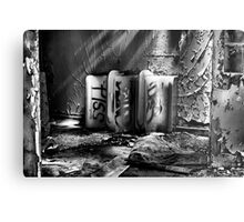 Abandoned Ceramic Metal Print