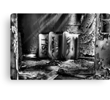 Abandoned Ceramic Canvas Print