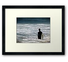 Looking for the Big One Framed Print