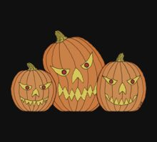 Creepy Jack-o-Lantern Trio by RHFay