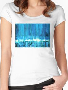 Breakers off Point Reyes original painting Women's Fitted Scoop T-Shirt