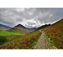 The Lake District: Path to Scarth Gap Photographic Print