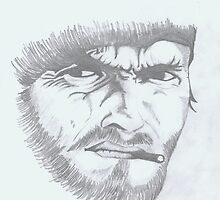 Clint Eastwood by sketchingbrad