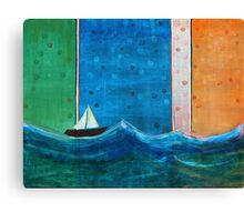 Solo Sail Canvas Print